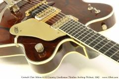 Gretsch Chet Atkins 6122 Country Gentleman Thinline Archtop Walnut, 1963 Heel View