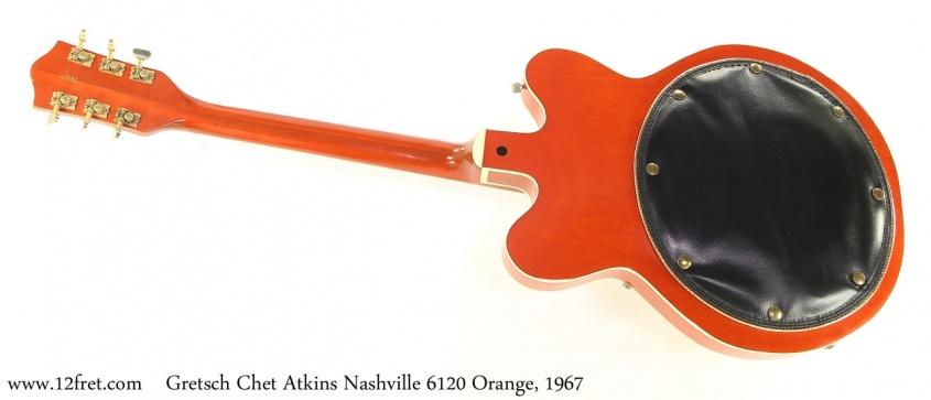Gretsch Chet Atkins Nashville 6120 Orange, 1967 Full Rear View