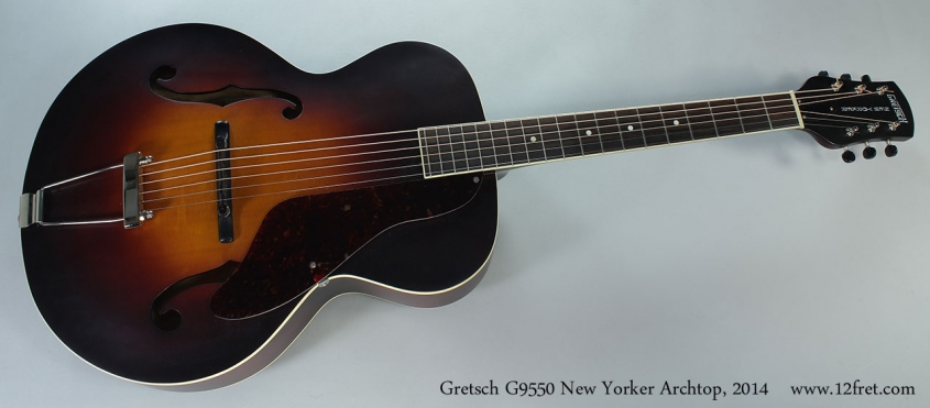 Gretsch G9550 New Yorker Archtop, 2014 Full Front View