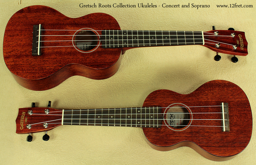 gretsch roots collection soprano and concert ukuleles. Black Bedroom Furniture Sets. Home Design Ideas