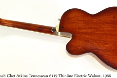 Gretsch Chet Atkins Tennessean 6119 Thinline Electric Walnut, 1966 Full Rear View