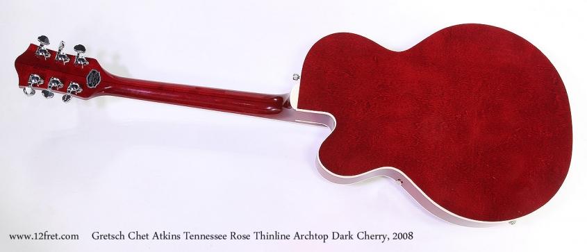 Gretsch Chet Atkins Tennessee Rose Thinline Archtop Dark Cherry, 2008 Full Rear View