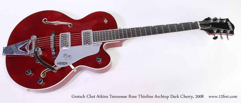 Gretsch Chet Atkins Tennessee Rose Thinline Archtop Dark Cherry, 2008 Full Front View