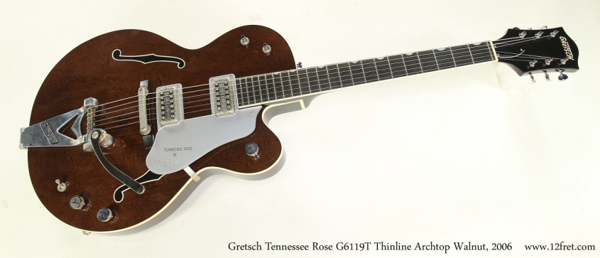 Gretsch Tennessee Rose G6119T Thinline Archtop Walnut, 2006  Full Front View