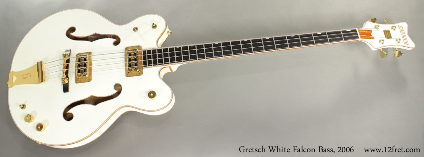 Gretsch White Falcon Bass G6136LSB 2006 full front view