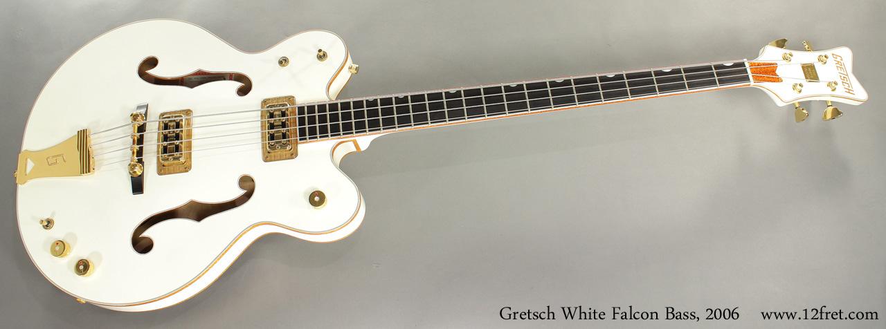 Gretsch White Falcon Bass G6136LSB 2006 full front view