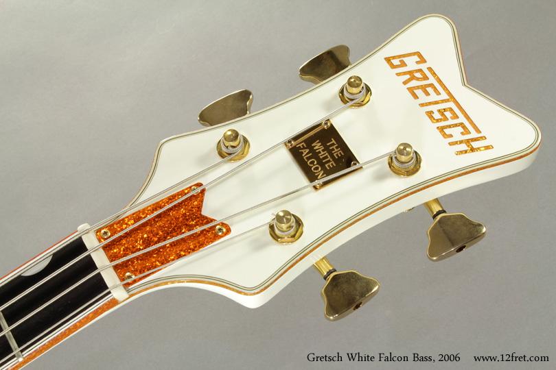 Gretsch White Falcon Bass G6136LSB 2006 head front