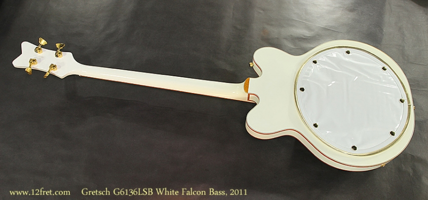 Gretsch G6136LSB White Falcon Bass, 2011 Full Rear View