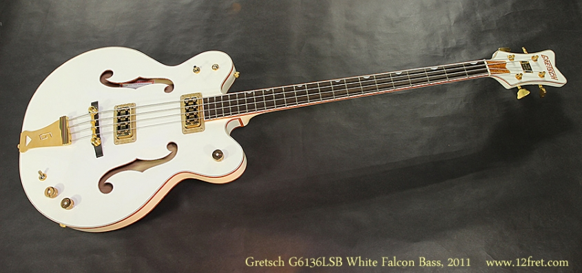Gretsch G6136LSB White Falcon Bass, 2011 Full Front View