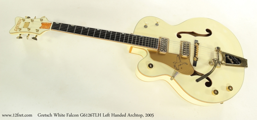 Gretsch White Falcon G6126TLH Left Handed Archtop, 2005 Full Front View
