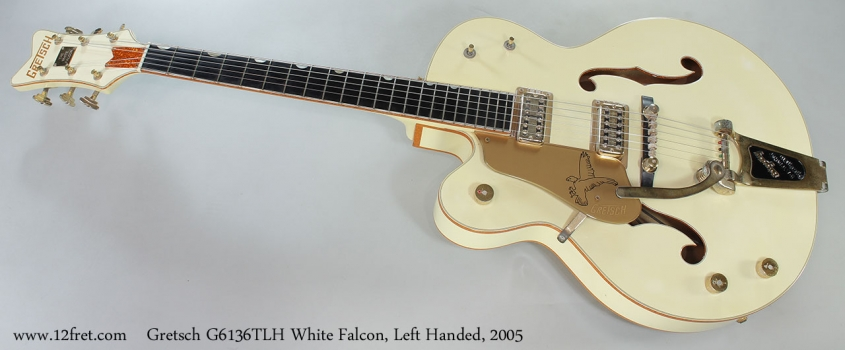 Gretsch G6136TLH White Falcon, Left Handed, 2005 Full Front View