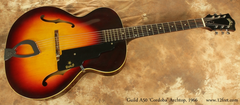 Guild A50 Cordoba Archtop1966 full front view