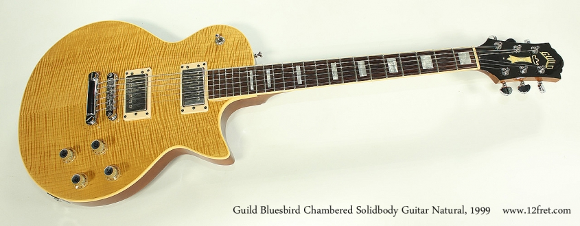 Guild Bluesbird Chambered Solidbody Guitar Natural, 1999 Full Front View