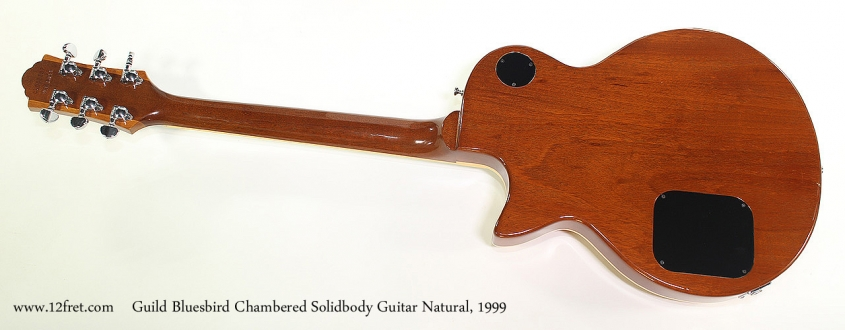 Guild Bluesbird Chambered Solidbody Guitar Natural, 1999 Full Rear View