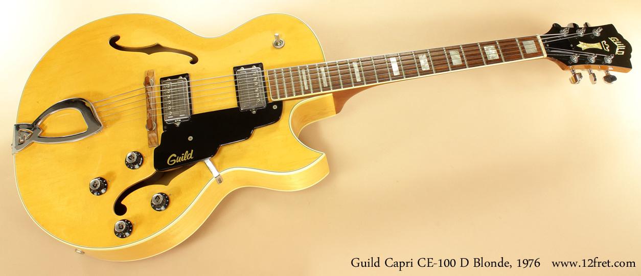 Guild Capri CE100D Blonde 1976 full front view