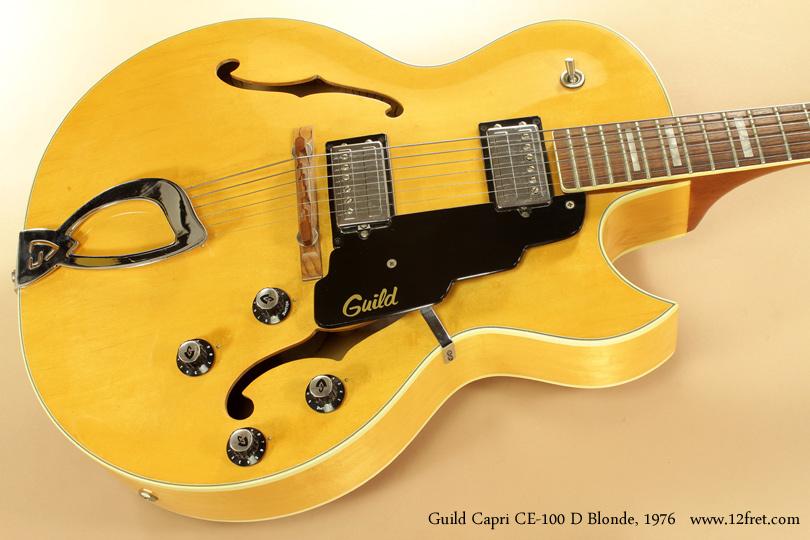 Guild Capri CE100D Blonde 1976 top
