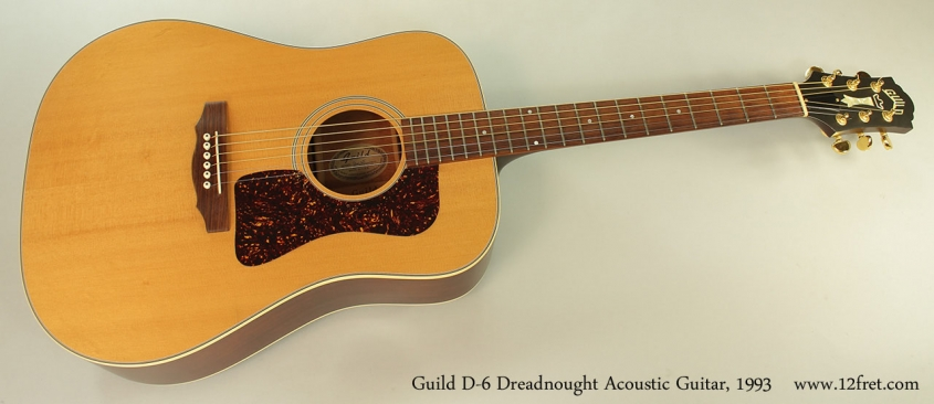 Guild D-6 Dreadnought Acoustic Guitar, 1993 Full Front View