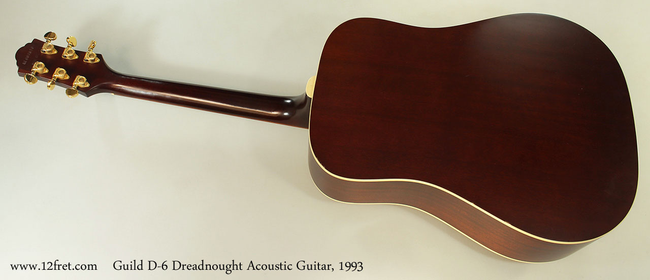 1993 guild d 6 dreadnought acoustic guitar. Black Bedroom Furniture Sets. Home Design Ideas