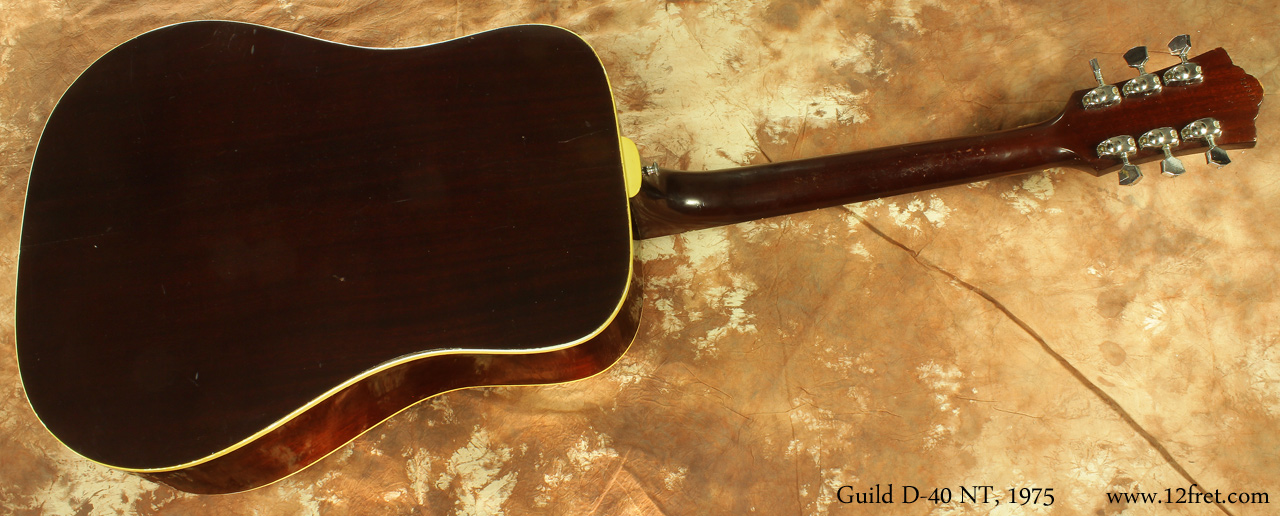 Guild D-40 NT, 1975 full rear view