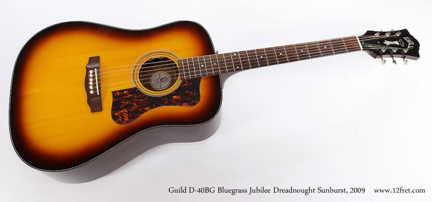 Guild D-40BG Bluegrass Jubilee Dreadnought Sunburst, 2009 Full Front View