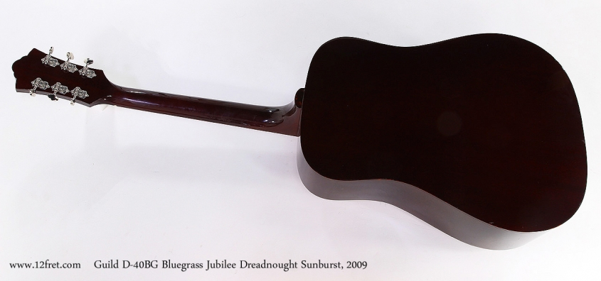 Guild D-40BG Bluegrass Jubilee Dreadnought Sunburst, 2009 Full Rear View