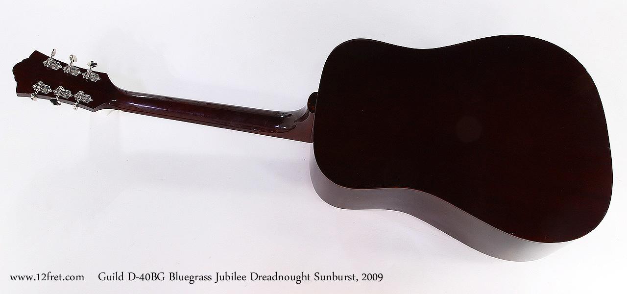 Guild D-40BG Bluegrass Jubilee Dreadnought Sunburst, 2009 Full Rear View