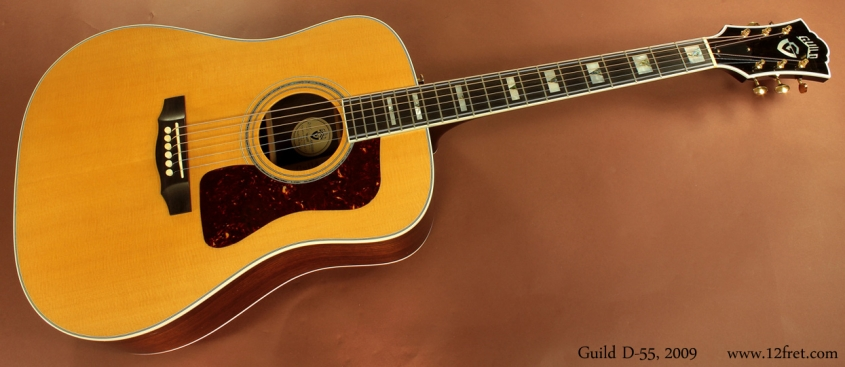 Guild D-55 Dreadnought 2009 full front view