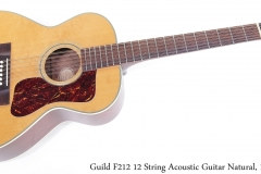 Guild F212 12 String Acoustic Guitar Natural, 1970 Full Front View