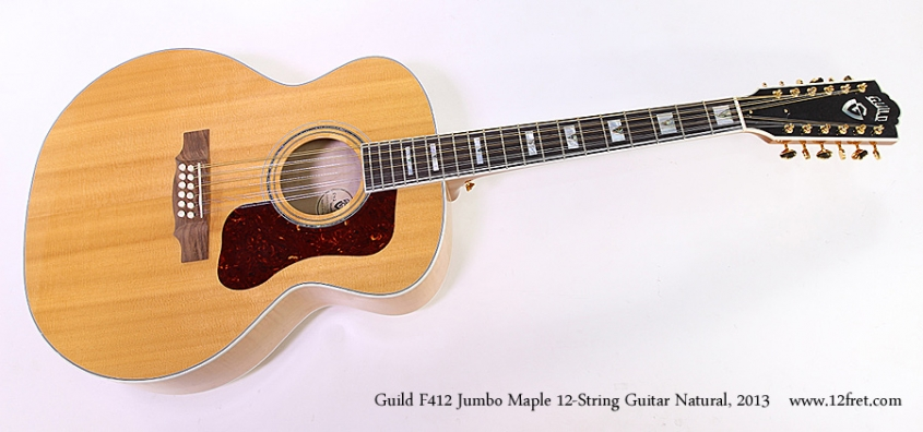 Guild F412 Jumbo Maple 12-String Guitar Natural, 2013 Full Front View