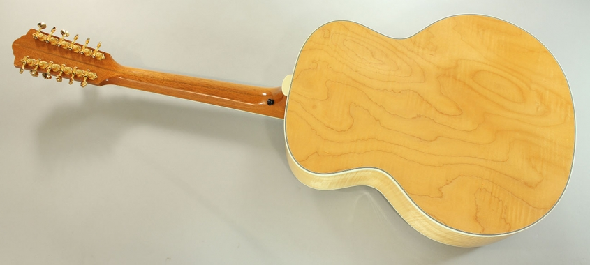 Guild F-412 12 String Guitar, Blonde, 2011 Full Rear View