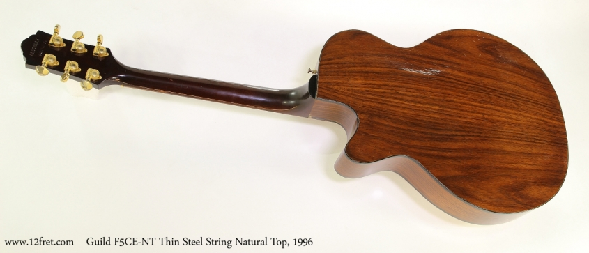 Guild F5CE-NT Thin Steel String Natural Top, 1996 Full Rear View