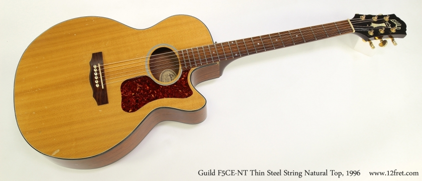 Guild F5CE-NT Thin Steel String Natural Top, 1996 Full Front View