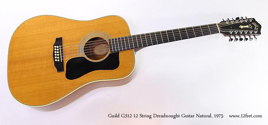 guild g312 12 string guitar natural 1975. Black Bedroom Furniture Sets. Home Design Ideas