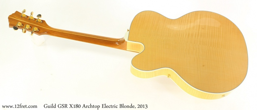 Guild GSR X180 Archtop Electric Blonde, 2013 Full Rear View