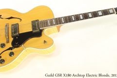 Guild GSR X180 Archtop Electric Blonde, 2013 Full Front View