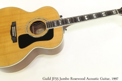 Guild JF55 Jumbo Rosewood Acoustic Guitar, 1997 Full Front View