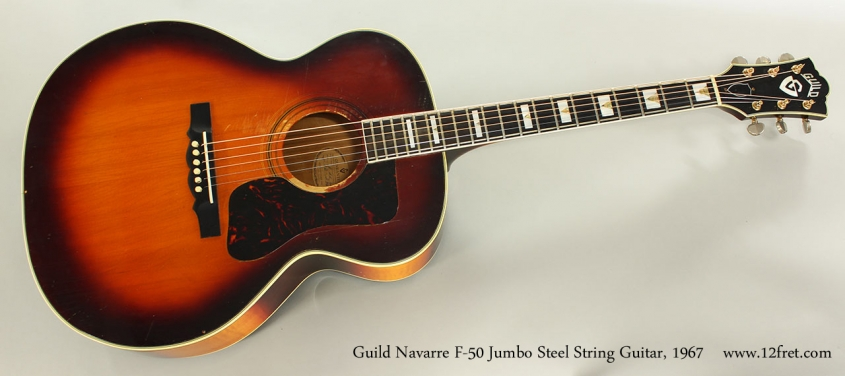 Guild Navarre F-50 Jumbo Steel String Guitar, 1967 Full Front View