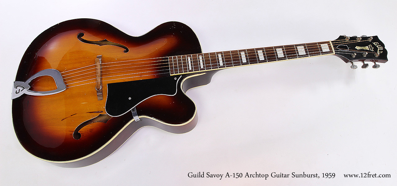 Guild Savoy A-150 Archtop Guitar Sunburst, 1959 Full Front View
