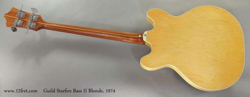 Guild Starfire Bass II Blonde 1974 full rear view