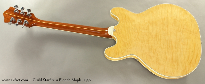 Guild Starfire 4 Blonde Maple 1997 full rear view