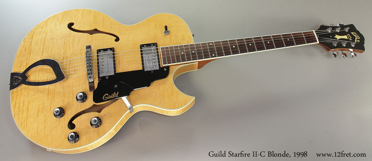 Guild Starfire II-C Blonde, 1998 Full Front View