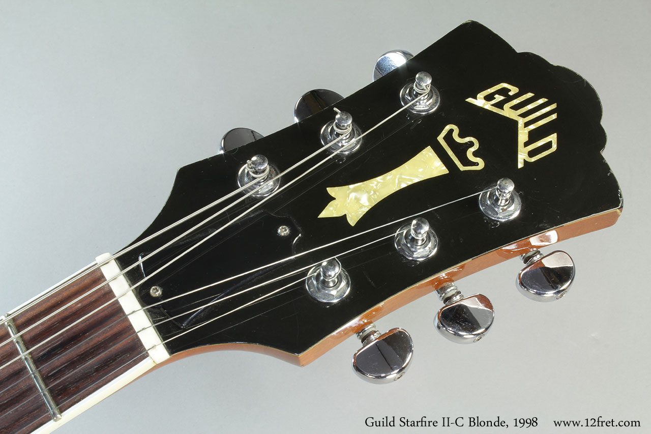 Guild Starfire II-C Blonde, 1998 Head Front