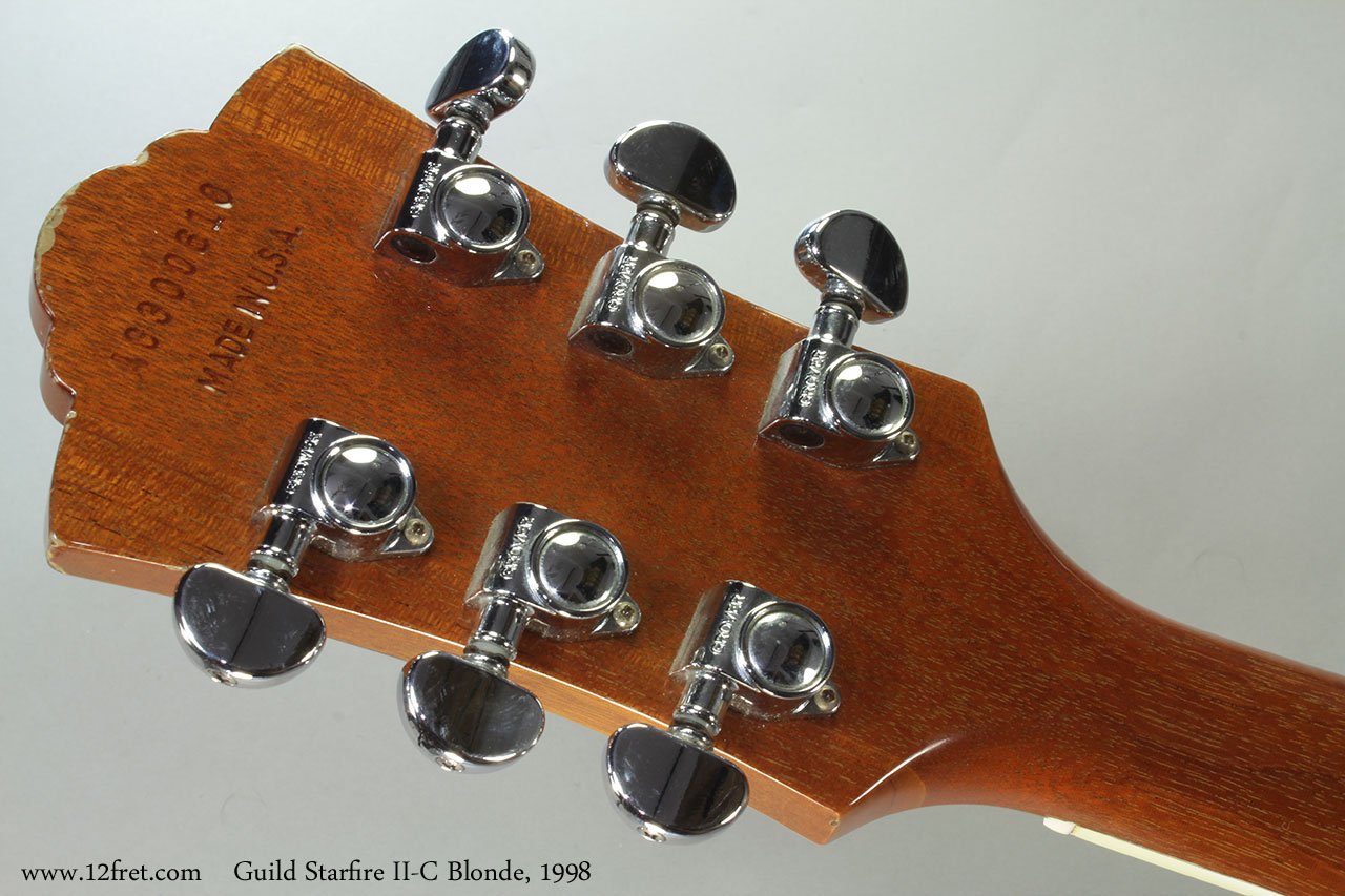 Guild Starfire II-C Blonde, 1998 Head Rear