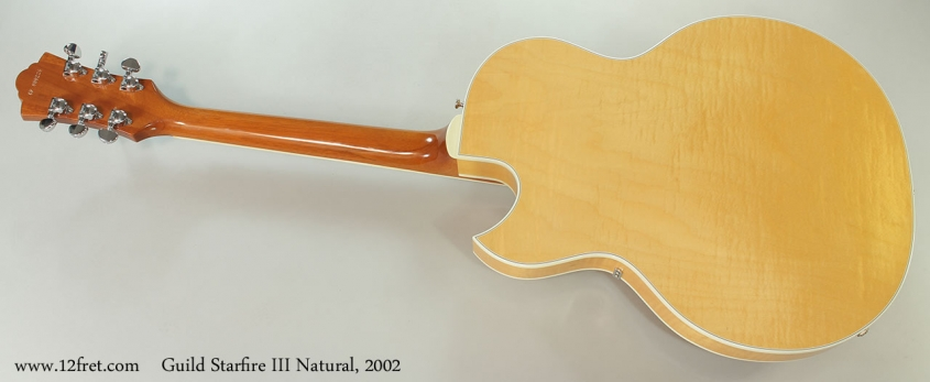 Guild Starfire III Natural, 2002 Full Rear View