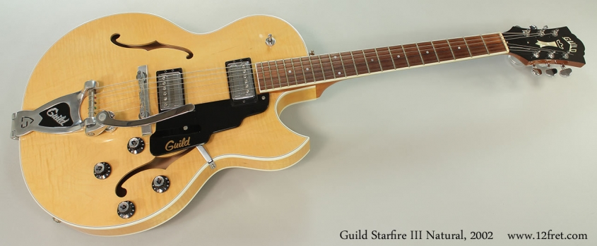 Guild Starfire III Natural, 2002 Full Front View