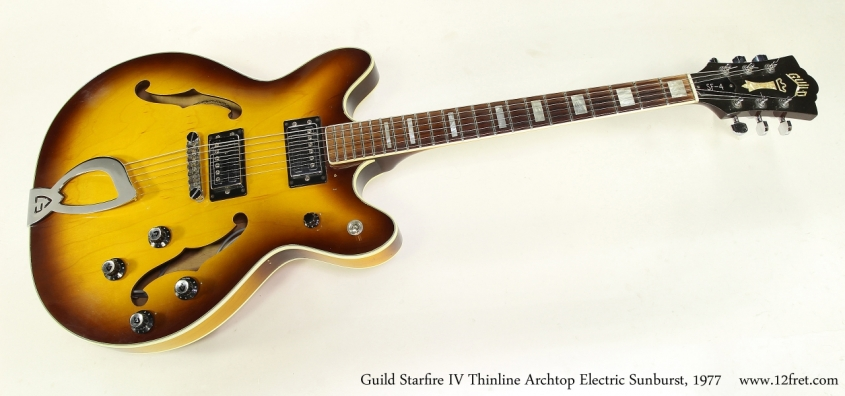 Guild Starfire IV Thinline Archtop Electric Sunburst, 1977 Full Front View