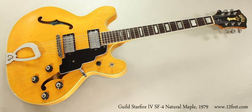 Guild Starfire IV SF-4 Blonde Maple, 1979 Full Front View