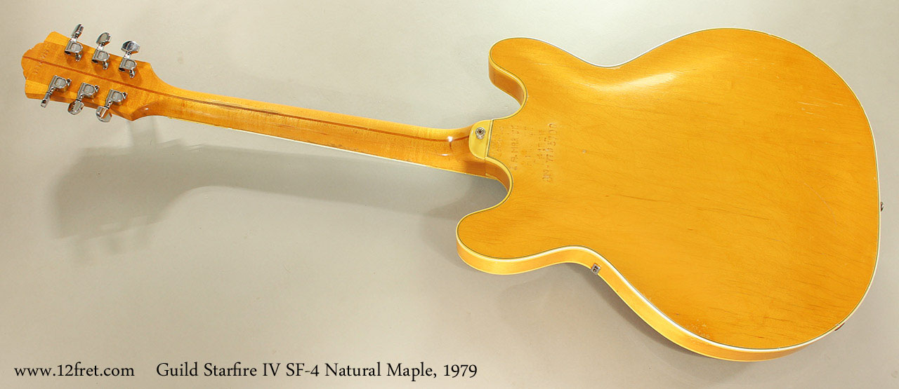 Guild Starfire IV SF-4 Blonde Maple, 1979 Full Rear View