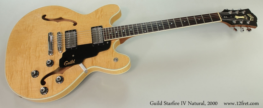 Guild Starfire IV Natural, 2000 Full Front View