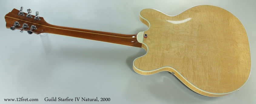 Guild Starfire IV Natural, 2000 Full Rear View